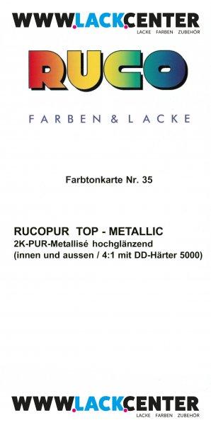 RUCO Farbtonkarte Nr. 35 RUCOPUR Top-Metallic