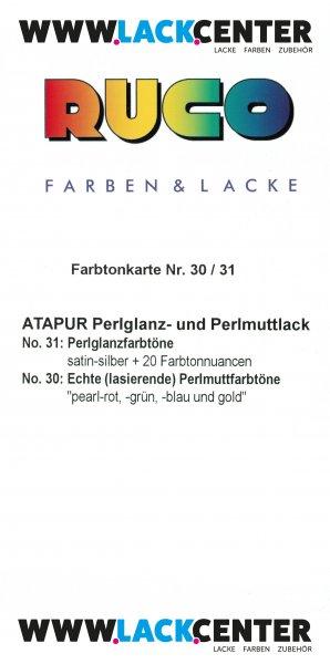 RUCO Farbtonkarte Nr. 30/31 Perlmuttlack